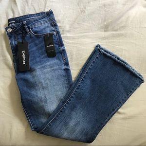 Bebe crop flare jeans